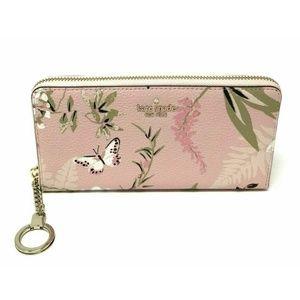 Kate Spade Briar Lane Neda Botanical Pink Wallet
